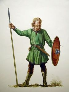 Typical Anglo-Saxon warrior