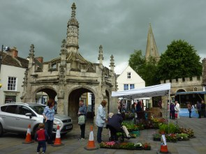 Malmesbury Market Cross - with market