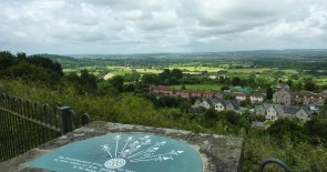 View from Castle Hill, Shaftesbury, towards King Alfred's Tower