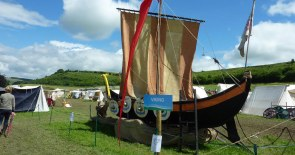 Viking Ship with a rather superfluous sign.