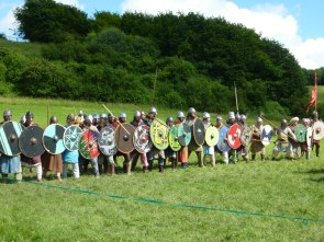 The Vikings wait on the hill.