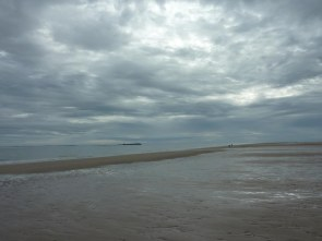 Farne Islands from Bamburgh Beach