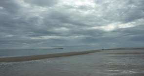 Farne Islands from Bamburgh Beach