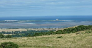 The views were worth it. Linisfarne in the distance