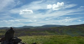 Reached the top! Looking south along the Cheviots