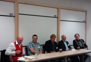Justin Hill, Matthew Harffy, Harry Sidebottom, Douglas Jackson and Simon Scarrow talk Battles