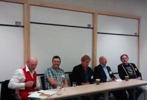 Justin Hill, Matthew Harffy, Harry Sidebottom, Douglas Jackson and Simon Scarrow talk Battles