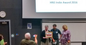 Presentation to Joint winner of the HNA Indie Award, Lucienne Boyce