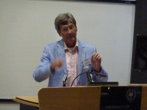 Melvyn Bragg making a point.